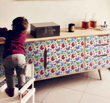 Decorative and amazing  butterflies decal for furniture space, this design is suitable for children bedroom furniture space.