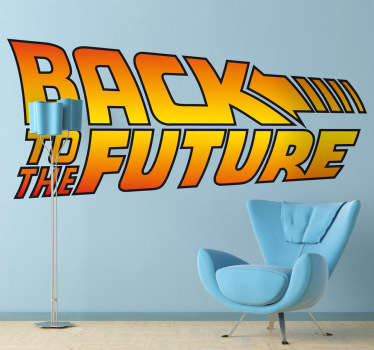 A movie decal referring to the film Back to the Future, with the adventures and trips of Marty McFly in the past and in the future.