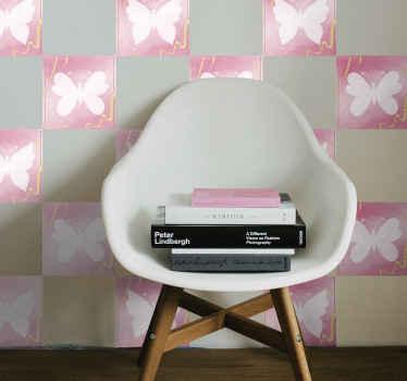Azulejos adhesivos de mariposas para el habitación infantil, el baño o la cocina. Elige pack y medidas ¡Envío a domicilio!