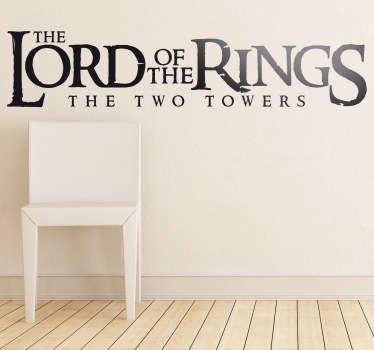 Sticker Seigneur des Anneaux deux tours