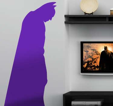 Silueta en vinilo del famoso hombre murciélago alter ego de Bruce Wayne. Para los fans de este superhéroe clásico.