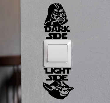 Pretty decorative text sticker for light switch that indicates the position to turn on and turn of light. Easy to apply and of high quality.