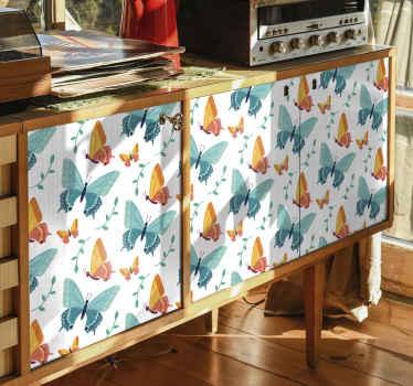 stickers meuble de papillons décoratifs. Vous pouvez décorer tous les meubles de la maison ou du bureau avec ce design incroyable.