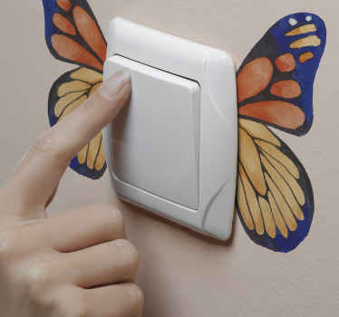 Your switch space doesn't have to appear boring,  why not purchase this pretty butterfly sticker for your light switch. Easy to apply without problem.