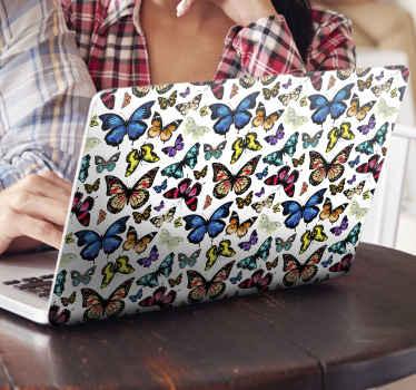 Vinilo ordenador portátil de mariposas para portátil. Un diseño encantador para embellecer tu portátil con un toque tierno ¡Envío a domicilio!