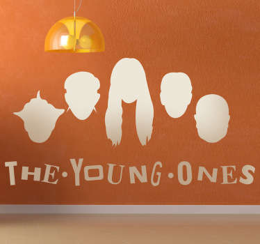 Vinilo decorativo the young ones