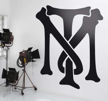 Adhesivo del emblema característico del mafioso hispano afincado en Miami Tony Montana, encarnado por Al Pacino en la película de Brian de Palma.