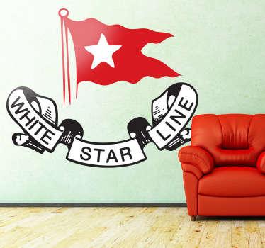 Vinilo logo White Star Line Titanic color
