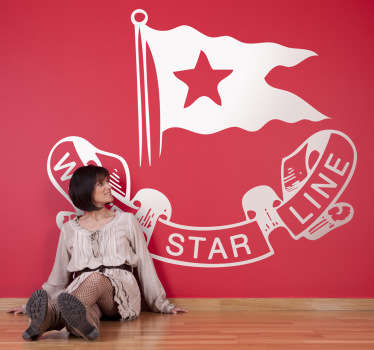 Sticker logo White Star Line Titanic
