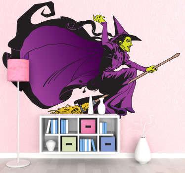 Sticker sorcière magicien d'Oz