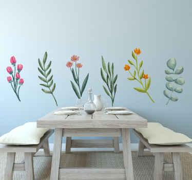 Decore sua casa e outros espaços com o toque de nossa variedade de designs de plantas de flores. é original, duradouro e fácil de colar.
