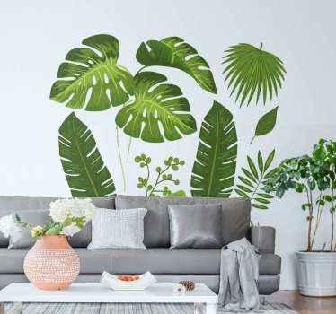 Dê ao seu espaço aquela sensação completa de uma atmosfera verde natural com nosso incrível autocolante de planta com variedades de folhas.