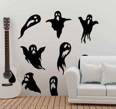 Our ghosts halloween wall sticker is the design of many different melting scary ghosts. It is easy to apply and can be removed anytime.