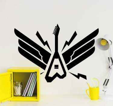Electric guitar rock musical instrument stickers  to decorate any space of choice. A lovely and creative design for  lovers music instrument enthusiast.