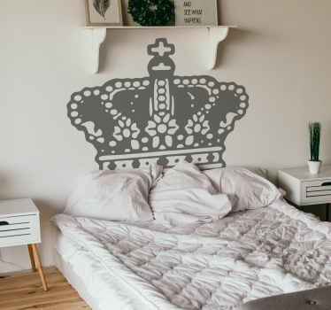 Dekorativ kongekrone wallsticker