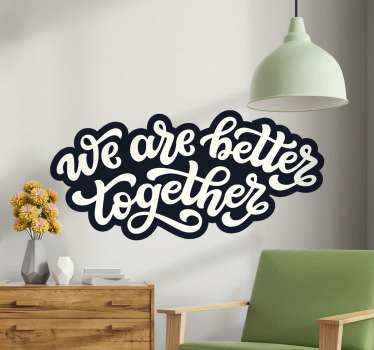 Decorative text sticker for home decoration. The design is simple and cute for decorating any space of choice. Easy tp apply and of high quality.