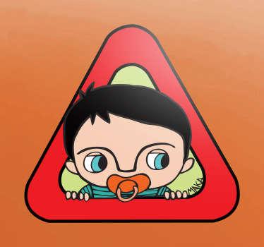 Sticker bébé à bord tétine maka