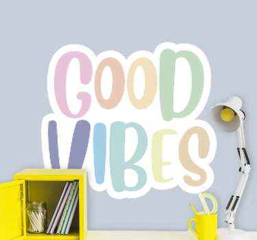attract more positive vibes into your life with this wall decals for teenagers roo! Let's make some good vides in your rooms! Home delivery!