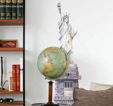 La conception d'autocollant de la statue de la liberté.  Belle décoration pour n'importe quel espace, elle est décorative sur toute surface plane.