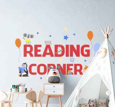 Where is the reading or study space of your child located? You can decorate that space with our educational text sticker that says 'Reading corner''.