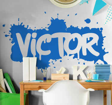 Stick boldly your child's name on the room space with our original urban graffiti art decal customizable with name. It is original and durable.