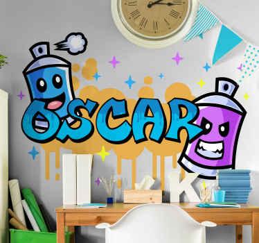 Pritaikykite jauno kambario erdvę naudodami mūsų asmeninį pavadinimą grafiti miesto sienų dailės lipdukas. Lengvai pritaikomas ir aukštos kokybės.