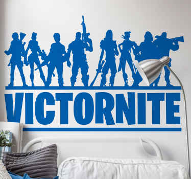 Decorate your teenager's bedroom in fortnite style with our group of fortnite crew video game character sticker customisable  any name you want.