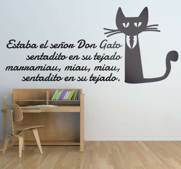 Vinilo infantil canción don gato