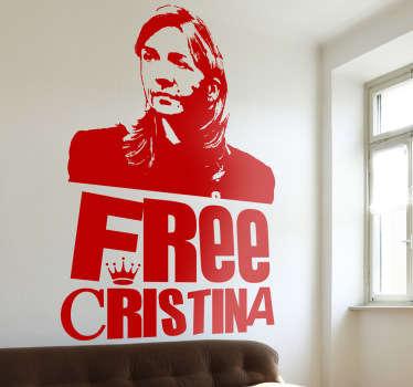 Free Cristina Aufkleber