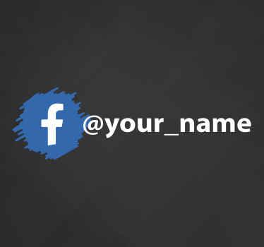 Prilagodite svoje ime na našoj facebook naljepnici s logotipom. Dizajn pogodan za prostor izloga za usmjeravanje kupaca na vašu poslovnu facebook stranicu.