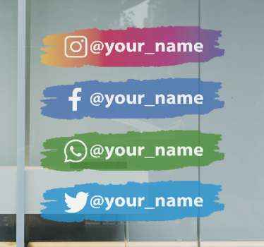 Social media personalised decals, the best way to get your socials the attention they deserve! Durable and anti-bubble vinyl.