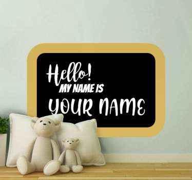 Bonjour stickers texte avec nom personnalisé. Beau design pour décorer un salon pour accueillir les visiteurs dans votre espace.