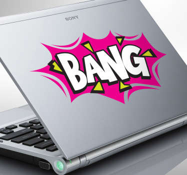 Komisk bang laptop klistermärke