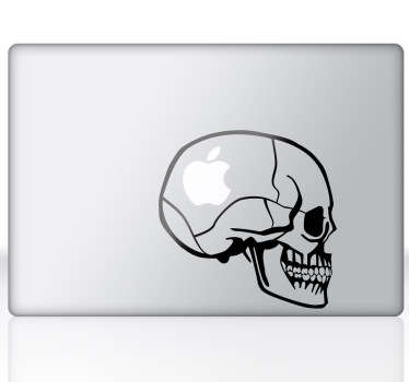 Skull Profile Laptop Sticker