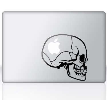 Kafatası macbook laptop çıkartması