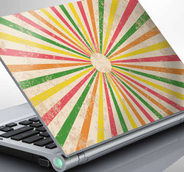 A retro laptop sticker with a circus theme showing yellows, greens, reds and oranges to create a gorgeous colourful skin for your device! If you are looking for a laptop sticker that will provide you with a unique and original appearance for your device then this is the ideal design for it!