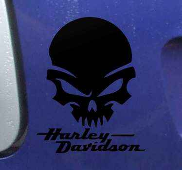 The perfect Harley Davidson motorcycle sticker for your bike with a great skull design. Available in 50 different colours!