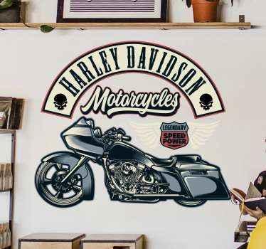 Aimez-vous les motos et surtout la marque de harley davidson?. Si oui, alors ce sticker bannière logo décoratif de harley davidson est fait pour vous.