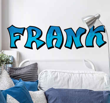 This graffiti sticker design will feature your choice of text in an awesome blue, graffiti like font. Personalised stickers.