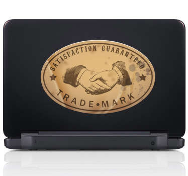 Satisfaction Guaranteed Laptop Sticker