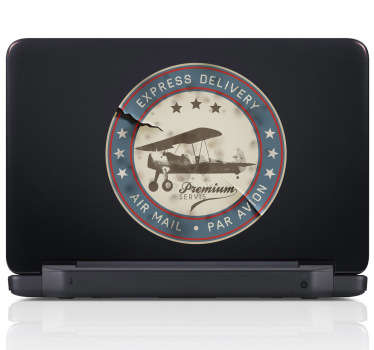 Airmail Stamp Laptop Sticker