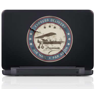 Airmail Stamp Laptop Sticker