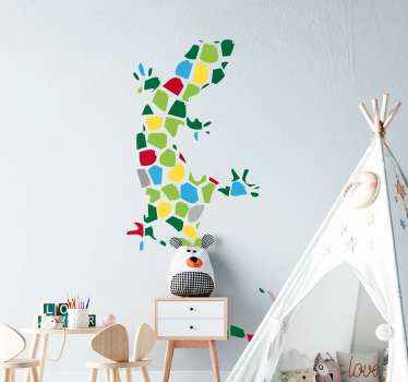 Go Gecko mad with this amazing animal wall sticker, a great addition to you children's wall! With zero residue upon removal.