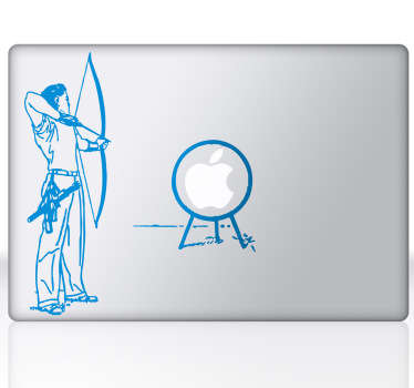A design of an archer and a target! An exclusive design for your Mac from our collection of MacBook sticker.