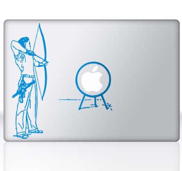 MacBook Aufkleber Bogenschießen