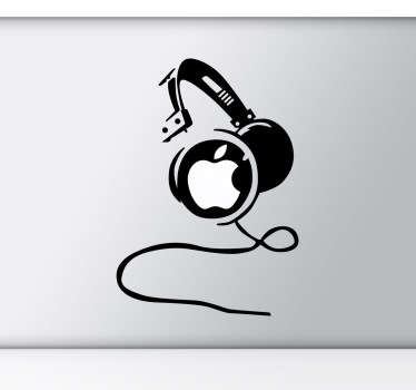 Sticker com headphones para MacBook