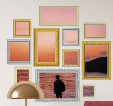 With our decorative frame decal you can customize your own images and picture to beautify your home. It is easy to any and of high quality.