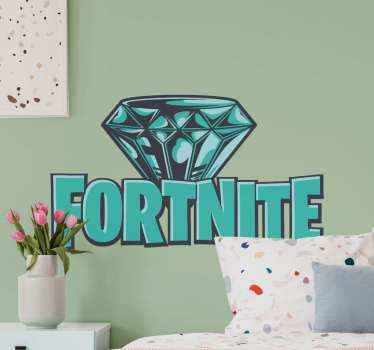 This rhinestone fortnite logo sticker is featured with the logo of the beloved game with a rhinestone. It  is available in a large variety of sizes.