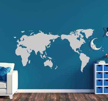 この世界のウォールステッカーは、旅行や新しい場所を訪れるのが大好きな人に最適です!さまざまな色とサイズでご利用いただけます。