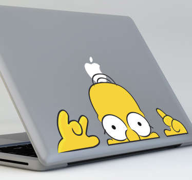 Sticker pc Homer guette couleur